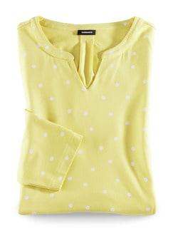 Viskose-Shirt Polka Dot Gelb Detail 2