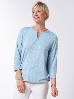 Viskose Shirt Polka Dot Skyblue Detail 1