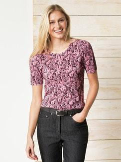 Franca Francani Plissee-Shirt Rosa/Schwarz Detail 1