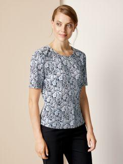 Franca Francani Plissee-Shirt Hellblau/Schwarz Detail 1