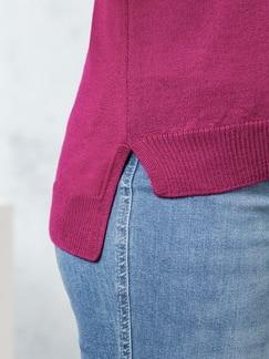 Merino-Mix Polo-Pullover Himbeere Detail 4