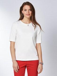 Pima Cotton Shirt Weiß Detail 1