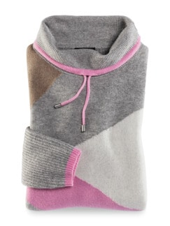 Pullover Intarsia Soft and Easy Pink/Beige Detail 2
