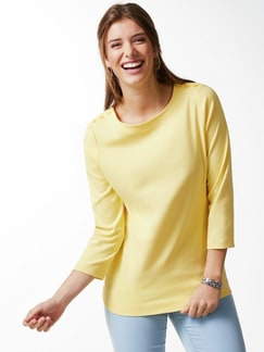 Shirt Soft Ripp Gelb Detail 1