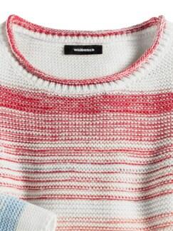 Pullover Farbverlauf Weiß/Pfirsich Detail 3