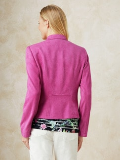 Betty Barclay Velours-Bikerjacke Pink Fuchsia Detail 4