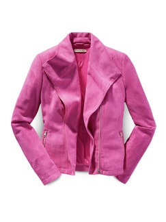 Betty Barclay Velours-Bikerjacke Pink Fuchsia Detail 3