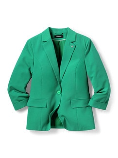 Sommerblazer Wash & Wear Grasgrün Detail 2