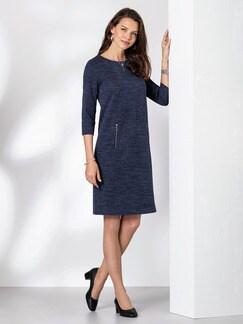 Jerseykleid Melange Blaumelange Detail 1