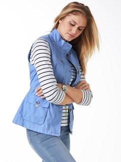 Leichtweste Fernweh Jeansblau Detail 1