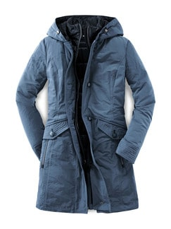 Thermore Winterjacke Rauchblau Detail 4