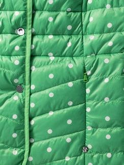 Wendejacke Dots grün Detail 4