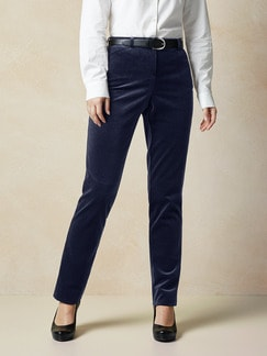 Exquisit Samt-Stretchhose Navy Detail 1
