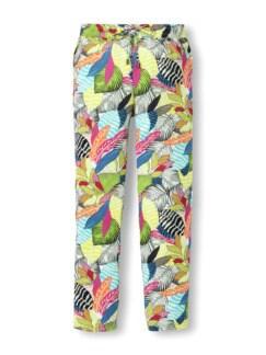 Jogpant Viskosa Blätterdruck Multicolor Detail 2
