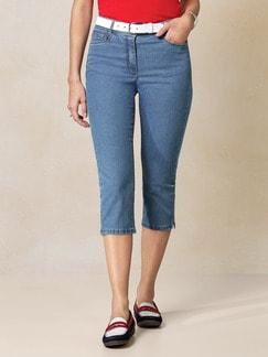 Capri Yoga-Jeans Mid Blue Detail 1