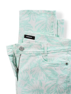 Powerstretch-Jeans Palmenprint Mint Detail 4