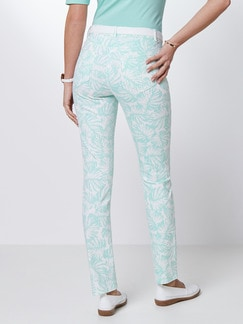 Powerstretch-Jeans Palmenprint Mint Detail 3