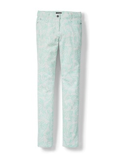 Powerstretch-Jeans Palmenprint Mint Detail 2