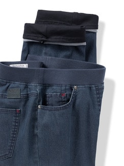 Raphaela by Brax Thermo Jeans Blue Stoned Detail 4