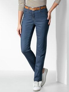 Passform Jeans Feminine Fit Blue Stoned Detail 1