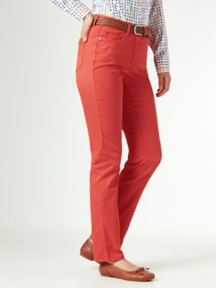 Yoga-Jeans Ultraplus Karminrot Detail 1
