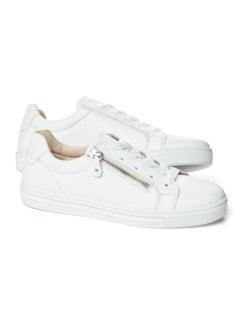 Reißverschluss-City Sneaker Weiß Detail 1
