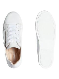 Reißverschluss-City Sneaker Weiß Detail 2