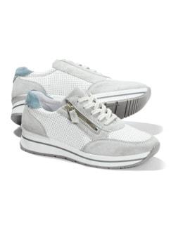 City Perfo-Sneaker Weiß/Grau Detail 1