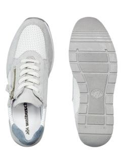City Perfo-Sneaker Weiß/Grau Detail 2