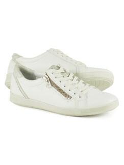 Reißverschluß-Sneaker Everyday Weiß Detail 1