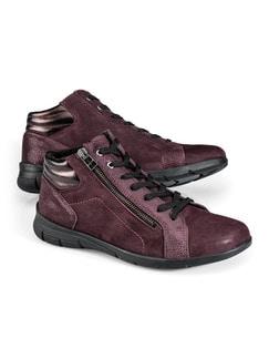 Comfort Kuschel-Sneaker Burgund Detail 1