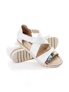 Klett-Sandale Weiß Detail 1