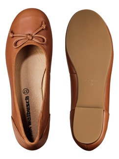 Bequem-Ballerina Cognac Detail 2