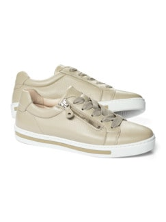 Hirschleder-City Sneaker Creme Detail 1