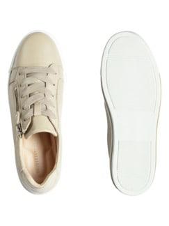 Hirschleder-City Sneaker Creme Detail 2