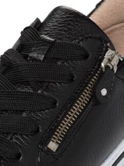 Hirschleder-City Sneaker Schwarz Detail 4