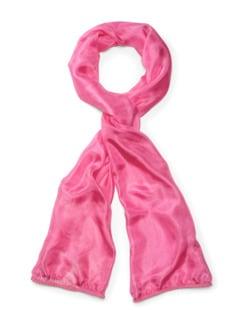 Seidenchiffon-Schal Pink Detail 1
