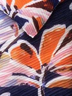 Crash-Schal Royalblau Detail 3