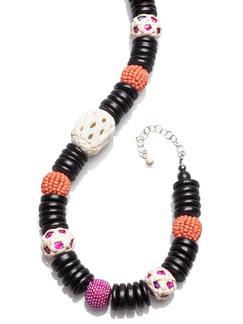 Kugelkette Afrika Pink/Orange Detail 3