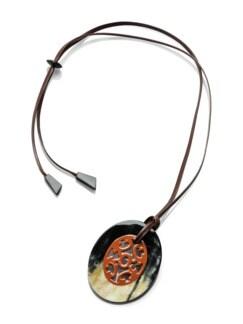 Hornanhänger Ornament Rostorange Detail 1