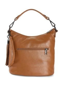 Lederhandtasche Standfest Zimt Detail 3