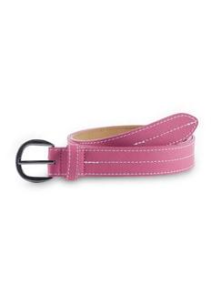 Ledergürtel Ziernaht Soft Pink Detail 1