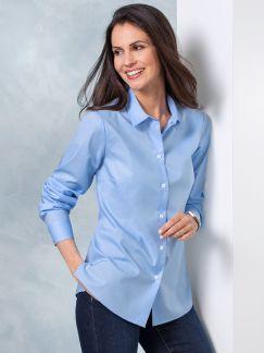 Extraglatt-Bluse Modern Classic Blau Detail 1