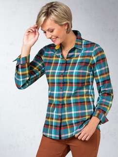 Wohlfühl-Flanellbluse Multicolor Detail 1