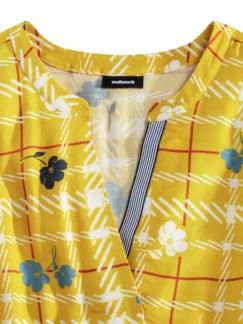 Viskose Shirtbluse Meeresbrise Gelb Detail 4