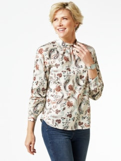 Ultrastretch-Stehkragen-Shirtbluse
