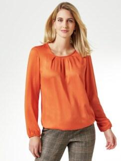 Viskose-Shirtbluse Rostorange Detail 1