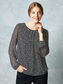 Shirtbluse 2 in 1 Schwarz-Weiß Detail 1