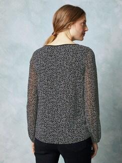 Shirtbluse 2 in 1 Schwarz-Weiß Detail 4