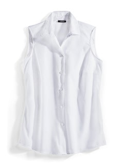 Extraglatt-Bluse Ärmellose Weiß Ärmellos Detail 2
